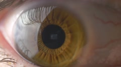 4K Eye Macro Closeup - stock footage