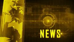Abstract digital NEWS background YELLOW Stock Footage