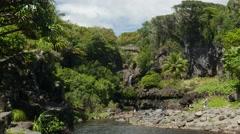 Ohe'o Gulch, Haleakala National Park Kipahulu, Maui, Hawaii Stock Footage