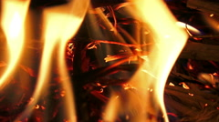 4K Fire flame close up. UHD stock video Stock Footage