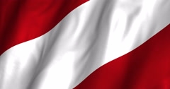 Austria Waving Flag-4K Stock Footage