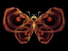 Toward Digital Butterfly - stock illustration