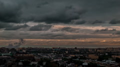 Moscow Evening TimeLapse Stock Footage