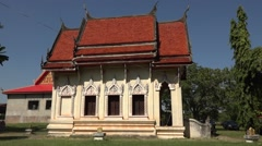 Buddhist temples in  thailand Stock Footage