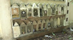Cemetery in  thailand Stock Footage