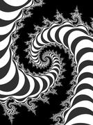 Decorative fractal spiral with optical illusion - stock illustration