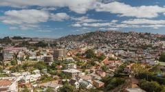 Nightfall over Antananarivo - stock photo