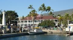 Pioneer Inn, Lahaina, Maui, Hawaii Stock Footage