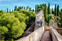 Stock Photo of Gibralfaro fortress (Alcazaba de Malaga). Malaga city. Spain