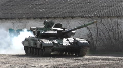 Stock Video Footage of tanks in Eastern Europe