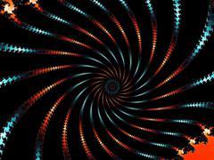Decorative fractal background in a dark colors - stock illustration