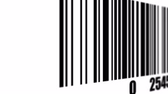 Bar code reader - stock footage