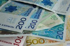 Norwegian paper money currency Kuvituskuvat