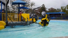 Legoland Aquazone Wave Racer Water Ride Stock Footage