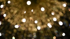 Blurred motionf of lights fountain Stock Footage