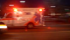 ambulance drive by on 162nd division st - stock footage