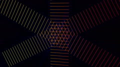 Futuristic animation with stripe object and light in motion, loop HD 1080p Stock Footage