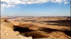 Makhtesh Ramon Crater Stock Footage