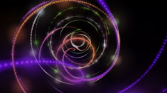 Futuristic animation with particle stripe object in motion, loop HD 1080p - stock footage