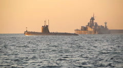 Military naval exercises Stock Footage