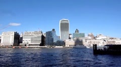 A view The Walkie-Talkie Building in London in the United Kingdom Stock Footage