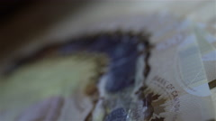 Close up of $100 bills. 4K UHD. Stock Footage