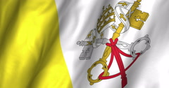 Holy See Waving Flag-4K Stock Footage
