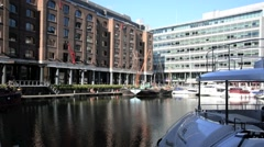 St Katharine's Dock London 25 Stock Footage