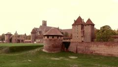 Timelapse of the Teutonic Order Castle In Malbork Stock Footage