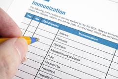 Immunization application form Stock Photos