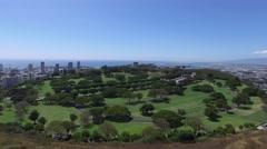 Punchbowl, National Memeorial Cemetery of the Pacific, Honolulu, Oahu, Hawaii Stock Footage