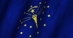 Indiana Waving Flag-4K Stock Footage