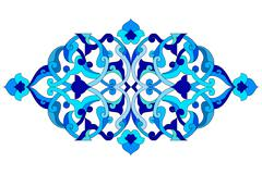 artistic ottoman pattern series sixty five - stock illustration