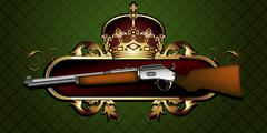 Guns with decorative elements Stock Illustration