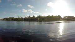 University of Tampa From Across Hillsborough River 4 Stock Footage