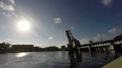Railroad Bridge in Hillsborough River Time Lapse - stock footage