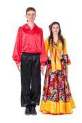 Gypsy flamenco dancer couple Stock Photos