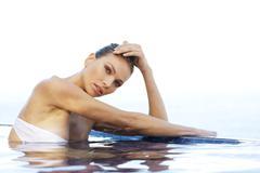 Woman in swimming pool Stock Photos
