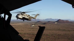 CH-53E Super Stallion  helicopter operations Stock Footage