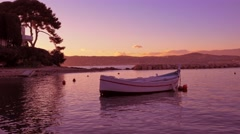 Cote d'Azur: Beautiful Mediterranean evening, 4K - stock footage