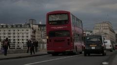 Traffic on Waterloo Bridge London (B-Roll/Cutaway/GV) | HD 1080 - stock footage