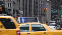 Stock Video Footage of Columbus Circle, cars passing