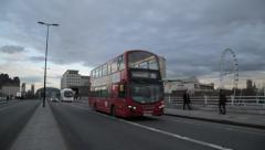 Traffic on Waterloo Bridge London (B-Roll/Cutaway/GV) | HD 1080 Stock Footage