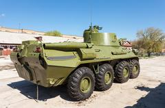 Nona-SVK 120mm self-propelled mortar carrier on wheeled chassis of the BTR-80 - stock photo
