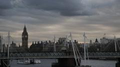 Big Ben/Elizabeth Tower & Bridge (B-Roll/Cutaway/GV)   HD 1080 - stock footage