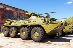 Russian Army BTR-82 wheeled armoured vehicle personnel carrier - stock photo