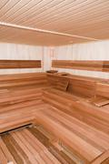 empty sauna - stock photo