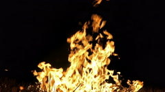 4K Fire burning loop. Alpha matte from black background. UHD stock video Stock Footage