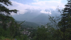 Kullu valley and The Beas River at Naggar in Himachal Pradesh, India. Stock Footage