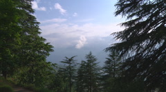 Kullu valley at Naggar in Himachal Pradesh, India. Stock Footage